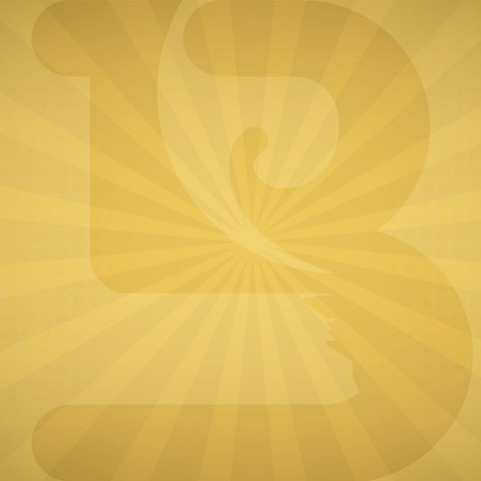 B, Gold Background